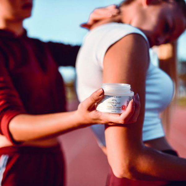 8680885440850 OZONE GOLD - Ozone fix cream warming cream knee pain essential oils joints pain ozonized olive oil ozone gold ozone